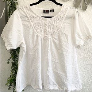 ALC white cotton relaxed fit blouse